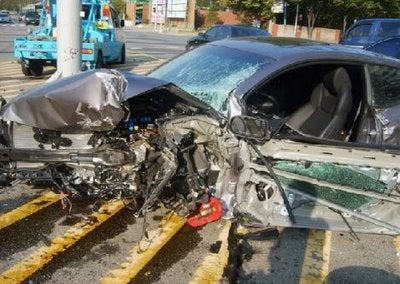 First Hyundai Genesis Coupe Crash Caught In Korea