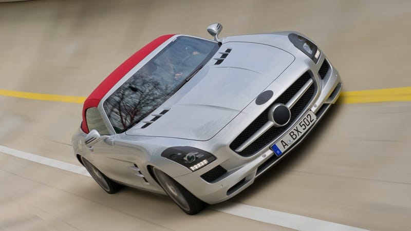 Mercedes-Benz SLS AMG Roadster drops its top