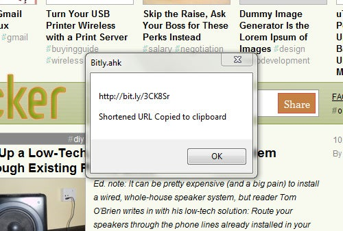 Shorten URLs with a Quick Keyboard Shortcut in Windows