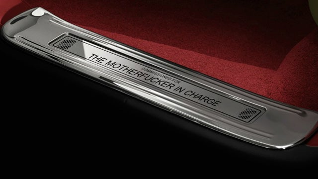 Yes, you can customize your Bentley door sill to say anything