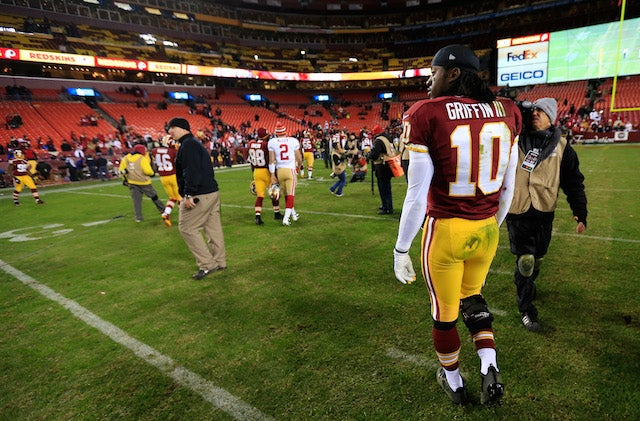 RGIII Has To Respond To Dad-In-Locker-Room Weirdness