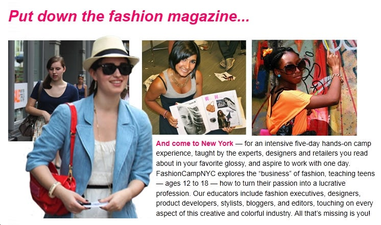 Exasperating Summer Camp of the Week: Fashion Camp