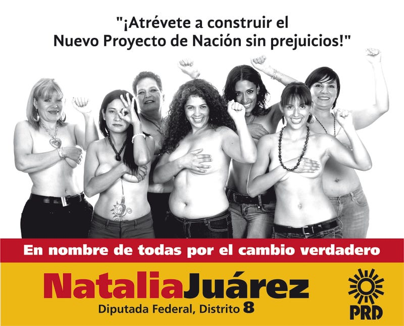 Mexican Congressional Candidate Hopes Topless Ad will Lift Flagging Campaign