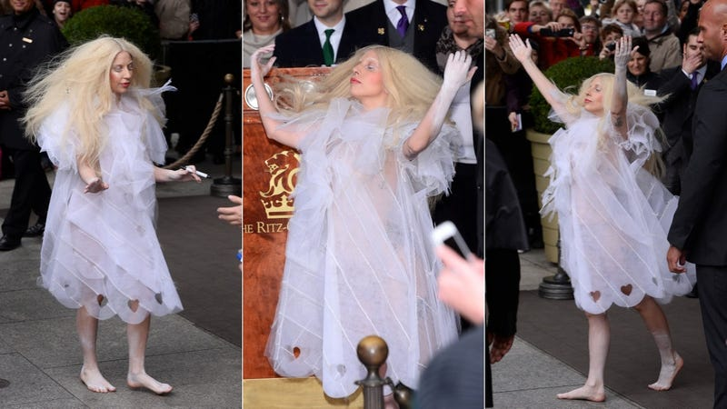 The Barefoot Ghost of Lady Gaga Haunts Berlin