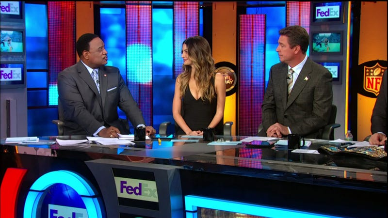 "Dan Marino Spent Most Of ""The NFL Today"" Staring At Lily Aldridge's Cleavage"