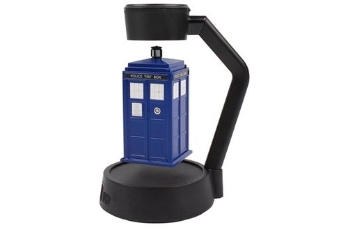 Make your workspace dimensionally transcendental with this levitating, spinning TARDIS