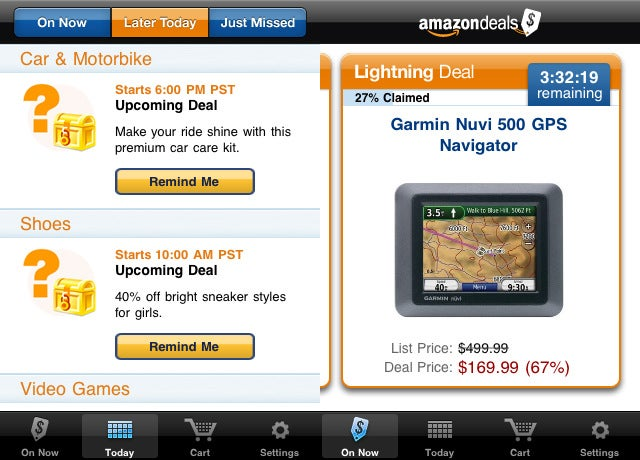 Amazon Deals Puts Gold Box and Lightning Deals Right on Your iPhone