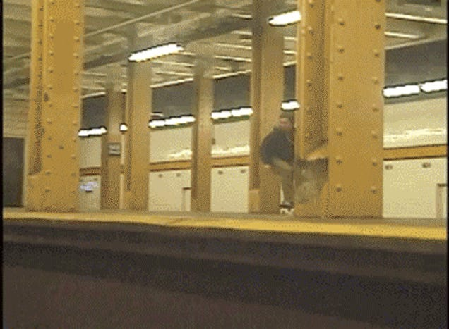Please Don't Ollie The Subway Tracks