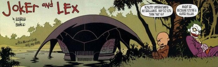 "Classic comic Calvin & Hobbes rebooted as ""Joker & Lex"""