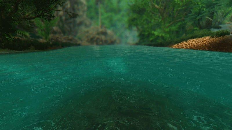 Skyrim Gifs Transform Winter Wasteland Into Tropical Getaway