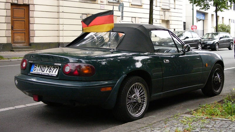 Behold, the Deutsche Racing Green Miata