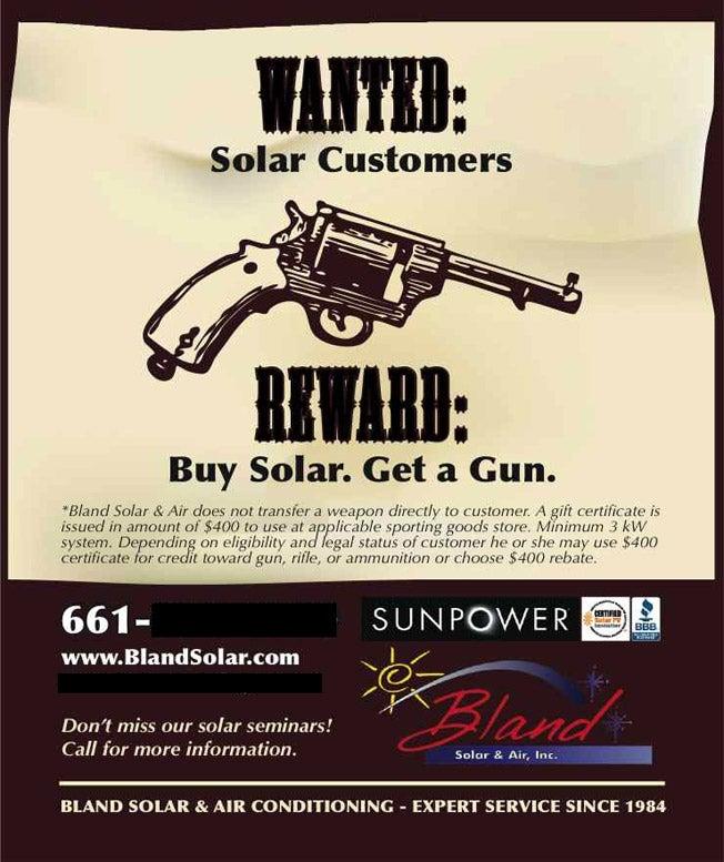 Buy Solar Power, Get a Free Gun!