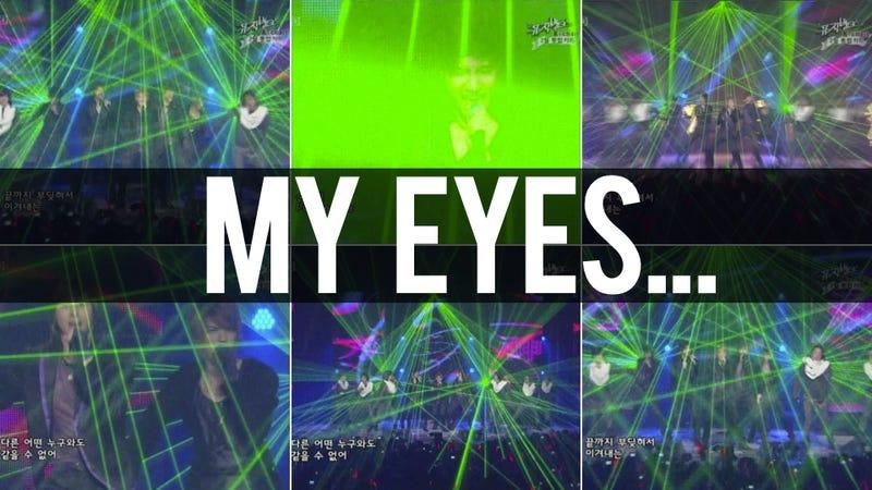 Boy Band Lasers Inspires StarCraft and Gundam Jokes