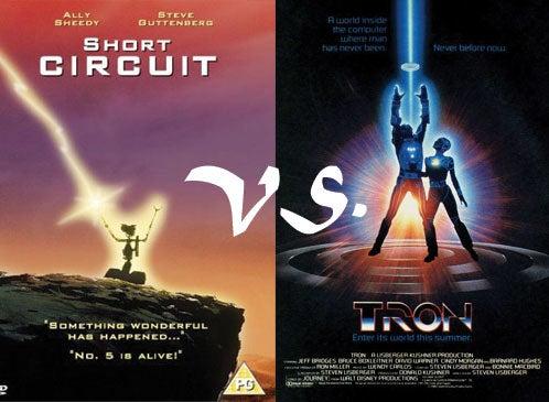 Retro Frankenfight: Short Circuit Vs. TRON