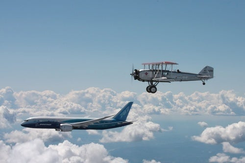 Boeing's Newest, Oldest Airplanes Fly Together