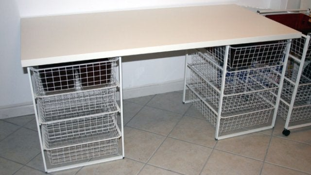 Hack Ikea Storage Baskets into a Crafting Table