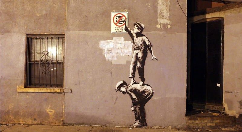 Banksy Piece Gets Re-Banksy'd Overnight