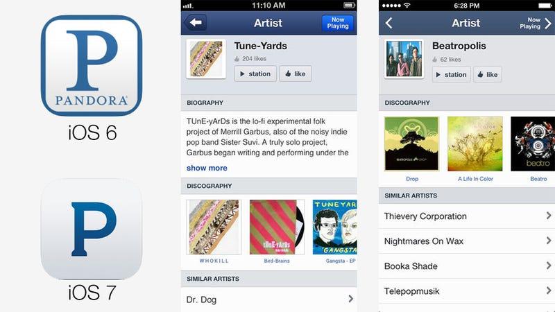 Tus aplicaciones favoritas, antes y después de iOS 7