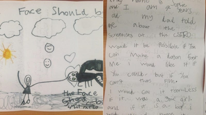 7-Year-Old Girl Writes To Scientists Asking Them To Make Her A Dragon