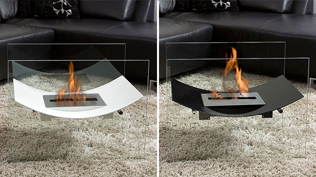 Floating Fireplace Produces No Smoke, Requires No Sorcery