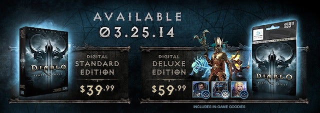 Diablo III: Reaper of Souls Is Out March 25, 2014