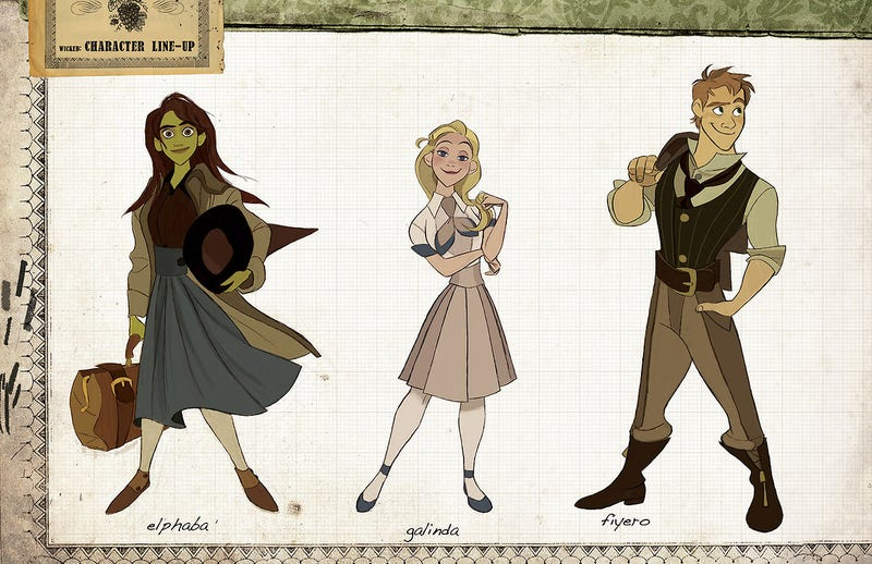 A Disney artist imagines Wicked as an animated film