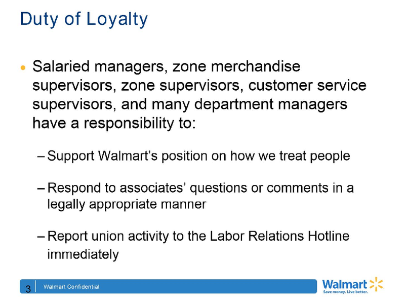 "Walmart's Anti-Union Training Documents Demand ""Loyalty"""
