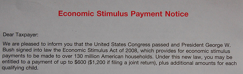 What Are You Doing with Your Stimulus Check?