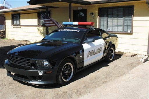 Transformers Mustang Cop Car Replica Not Police Approved