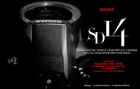 Sigma Teases Next Foveon Camera, the SD14 DSLR