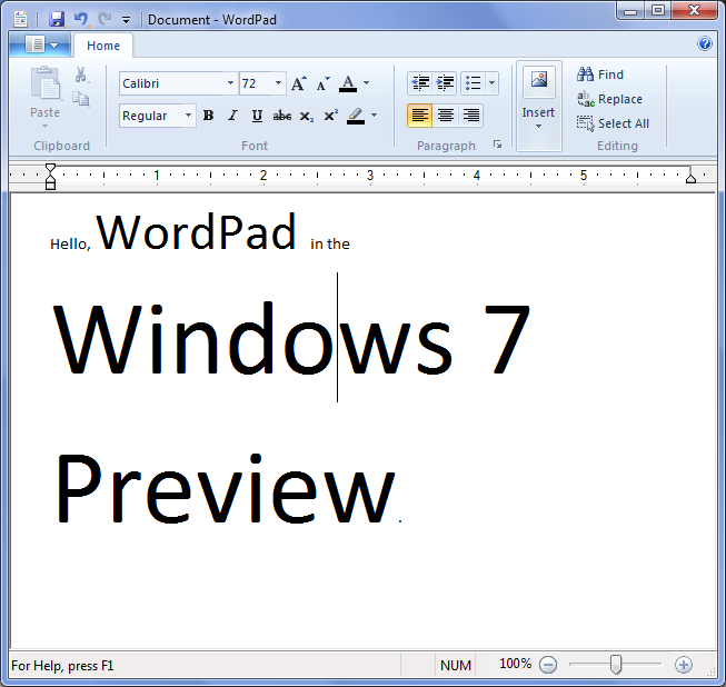 Wordpad 2009 Offers Windows 7-Like Ribbon Interface