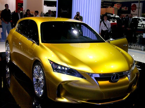 Lexus LF-Ch Concept: Hybrid A3-Fighter In The Gold Flesh