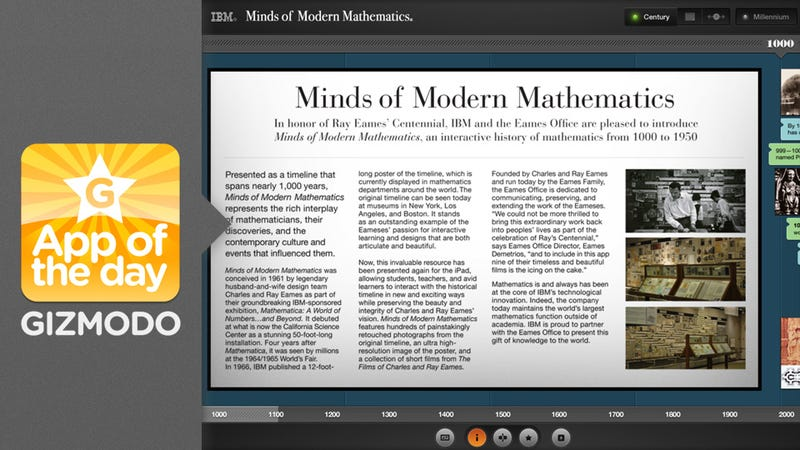 Minds of Modern Mathematics: Explore a Millenium of Math History