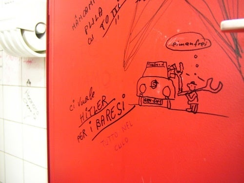 Trabant-Themed Art From The Bathroom Stalls of Geneva