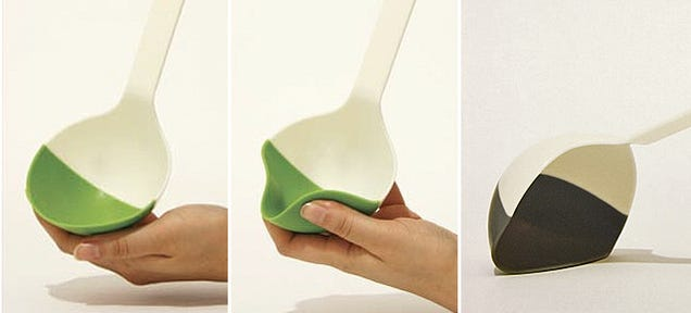 A Semi-Soft Silicone Ladel Would Scoop Out Every Last Drop
