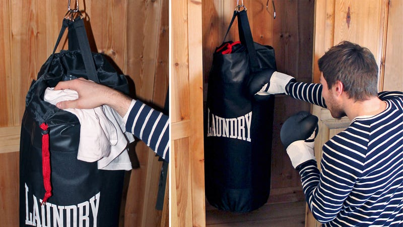 Laundry Punching Bag Gets You Fit While Being a Slob