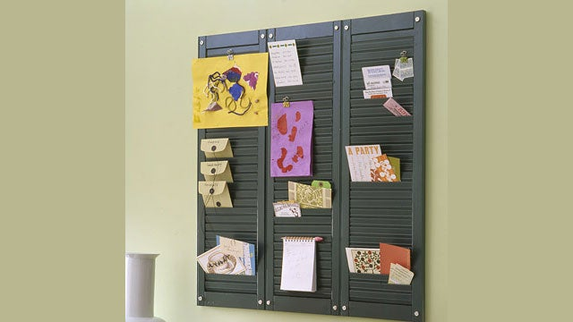 Turn Wooden Shutters into a Multi-Pocket Wall Organizer