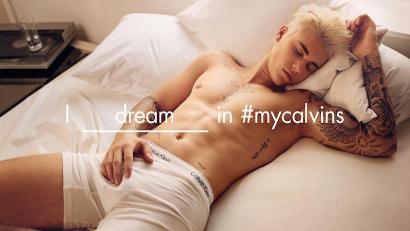 Justin Bieber Ditches the Dick Print in New Calvin Klein Ads