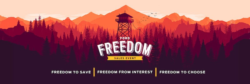 Ford Dealership Uses Firewatch Art To Advertise Sale