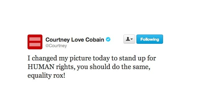 'Equality Rox,' Says Courtney Love