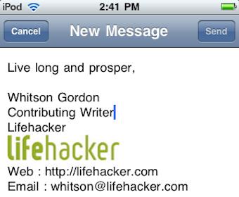 iPhone Signature Creator Brings HTML Signatures to iOS Mail