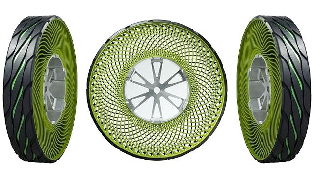 Bridgestone's Puncture-Proof Tires Look Like They Were Made With a Spirograph