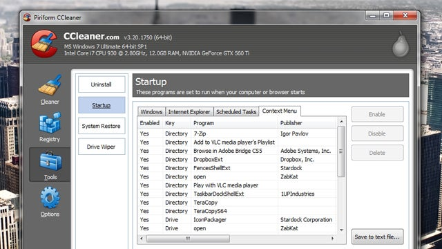 CCleaner Updates with a Built-In Context Menu Cleaner