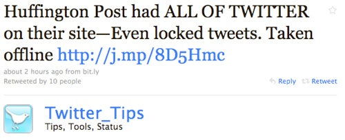 Why Did the Huffington Post Republish All of Twitter Last Night?