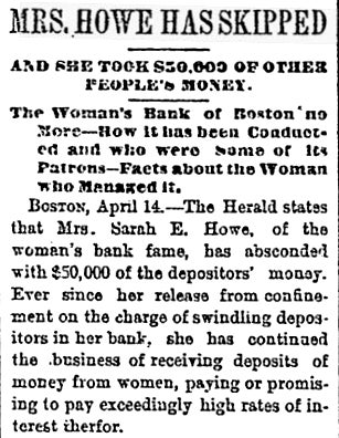 The Ladies' Deposit: Created by Women for Ripping Off Women