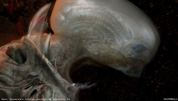 Prometheus concept art puts us face-to-sucker with the movie's creatures