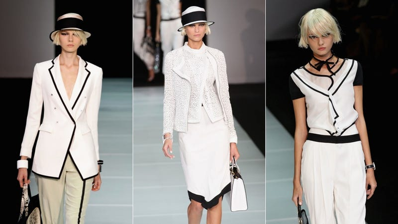 Armani Is Black & White & Sharp All Over
