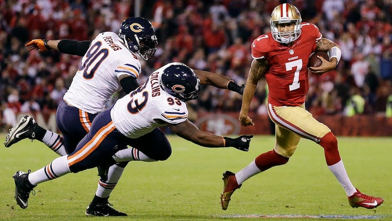49ers Backup Colin Kaepernick Opened Up The Playbook And Shot Down The Bears Last Night