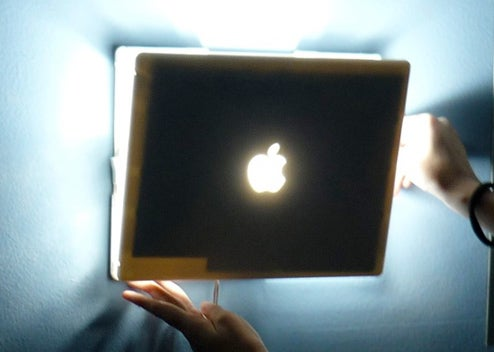 iBook Lamp Restrains (Holy?) Light