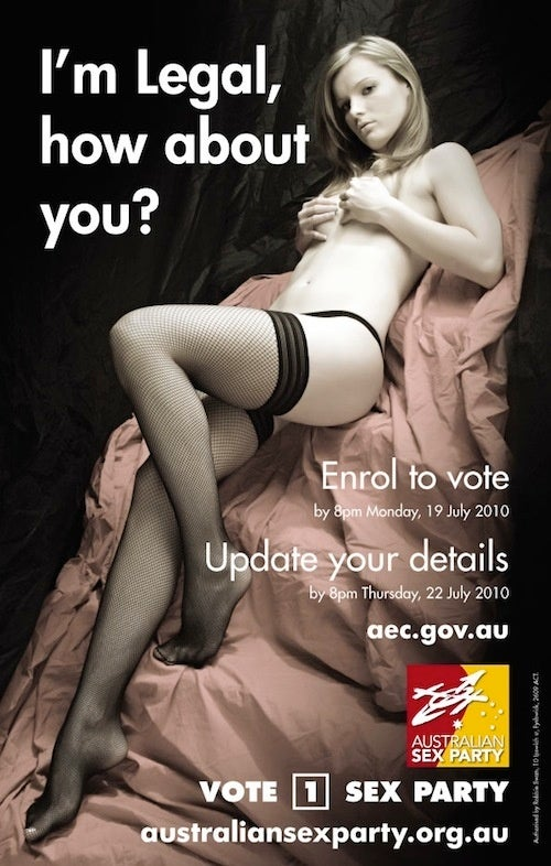 The Sex Party Makes Has An Interesting Take On Voter Registration